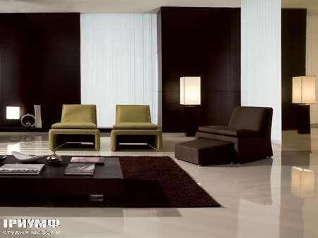 Итальянская мебель CTS Salotti - Кресло с убирающимся пуфом, модель Marea