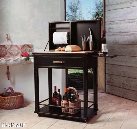 Итальянская мебель Tonin casa - стол для готовки в  мини кухню из массива