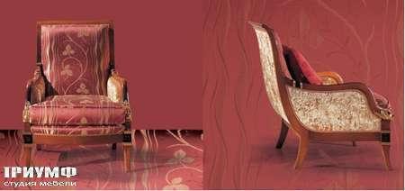 Итальянская мебель Ezio Bellotti - Кресло в ткани и дереве с позолотой