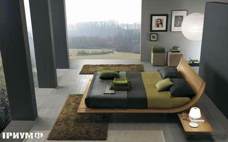 Итальянская мебель Presotto - кровать Aqua в шпоне ноче каналето
