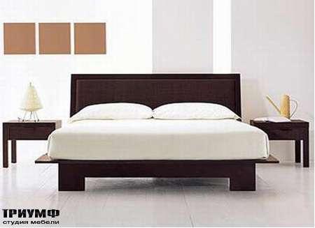 Итальянская мебель Rattan Wood - Кровать Ecologico