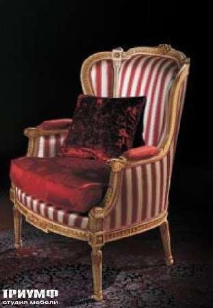 Итальянская мебель Ezio Bellotti - Кресло в полосатой ткани