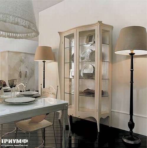 Итальянская мебель Giusti Portos - Витрина двухдверная со стеклом