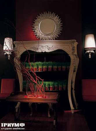 Итальянская мебель Chelini - Консоль с открытыми полками, шкаф книжный  арт.2081