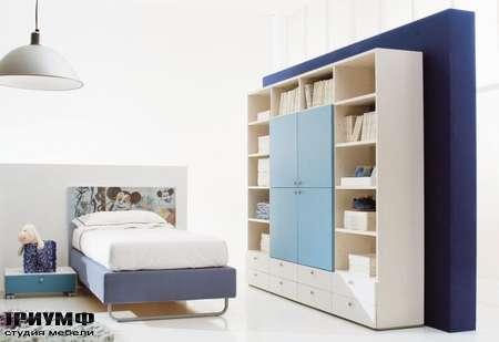 Итальянская мебель Di Liddo & Perego - Шкаф книжный с открытыми элементами
