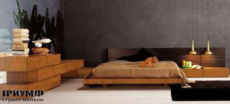 Итальянская мебель Pianca - Кровать People Tatami с комодами