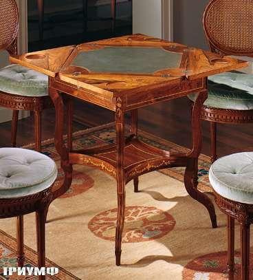 Итальянская мебель Colombo Mobili - Игральный столик в английском стиле арт.374 кол. Cimarosa