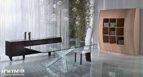 Итальянская мебель Reflex Angelo - Стол sfera ножки с эффектом потрескавшегося стекла