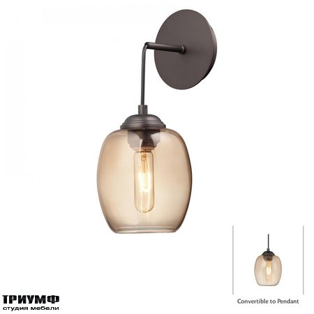 Американская мебель George Kovacs - 1 Light Sconce with Copper Bronze Patina finish