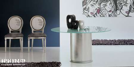 Итальянская мебель Moda by Mode - стол Tokyo серебро