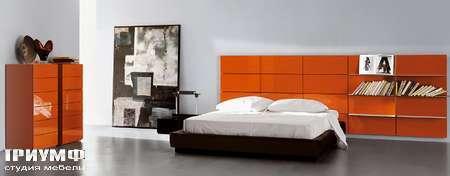 Итальянская мебель Pianca - Кровать People Vintage Tatami с панелями бойзери в глянцевом лаке
