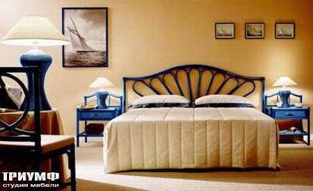 Итальянская мебель Rattan Wood - Кровать Monte carlo