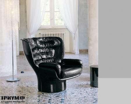 Итальянская мебель Love Luxe (Longhi) - Кресло Elda, черный лак, кожа