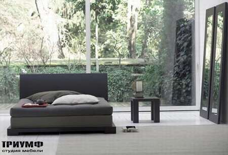 Итальянская мебель Orizzonti - кровать Andaman отделка дерево 1