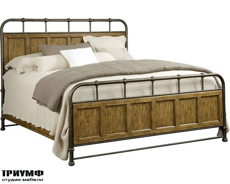 Американская мебель Broyhill - New Vintage Metal Wood Bedstead