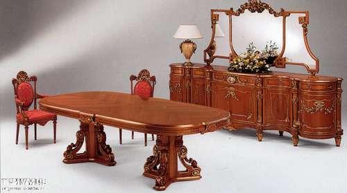 Итальянская мебель Citterio Fratelli - Стол овальный двухтумбовый Sofia