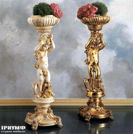Итальянская мебель Silik - Скульптурная подставка с вазонами