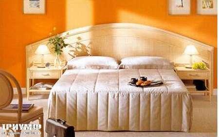 Итальянская мебель Rattan Wood - Кровать Sogno