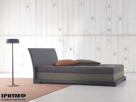 Итальянская мебель Orizzonti - кровать Andaman отделка дерево 2