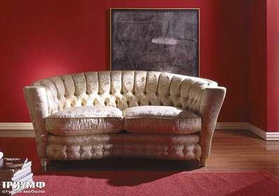 Итальянская мебель Zanaboni - Диван полукруглый с кнопками Millennium