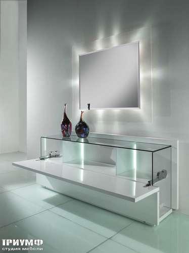 Итальянская мебель Reflex Angelo - Стол с ножкой из плетенного стекла