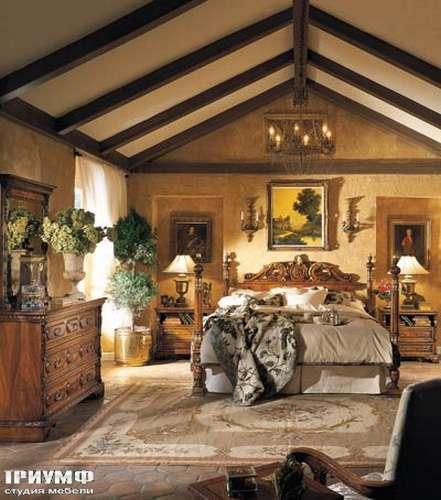Итальянская мебель Francesco Molon - Кровать с резной спинкой