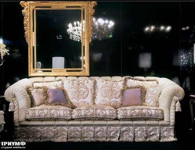 Итальянская мебель Zanaboni - Диван Asia с дополнительными подушками, классика