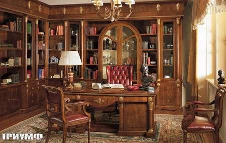 Итальянская мебель Grilli - библиотека угловая, стол руководителя