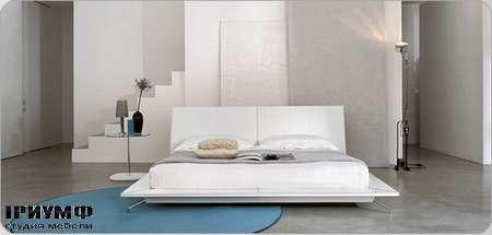 Итальянская мебель Bonaldo - кровать двуспальная Sailor в коже
