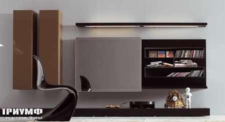 Итальянская мебель Pianca - Стенка с раздвижными дверьми, композиция Spazio