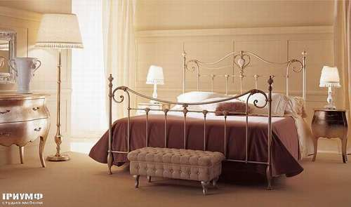 Итальянская мебель Giusti Portos - Кровать с тумбочками Melody