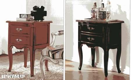 Итальянская мебель Flai - прикроватные тумбы крашенное дерево, красная и черная371