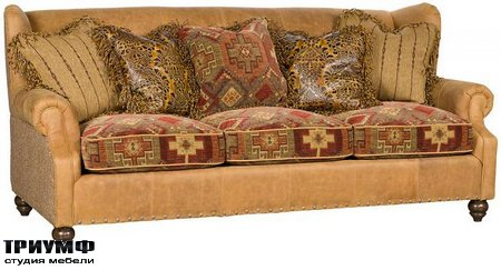 Американская мебель King Hickory - Lucy Leather Fabric Sofa