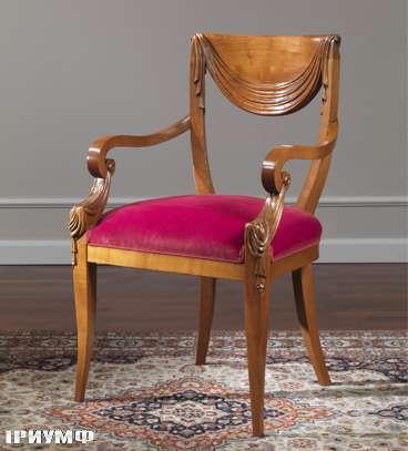Итальянская мебель Colombo Mobili - Полукресло в стиле Бидермайер арт. 242.Р кол. Corelli