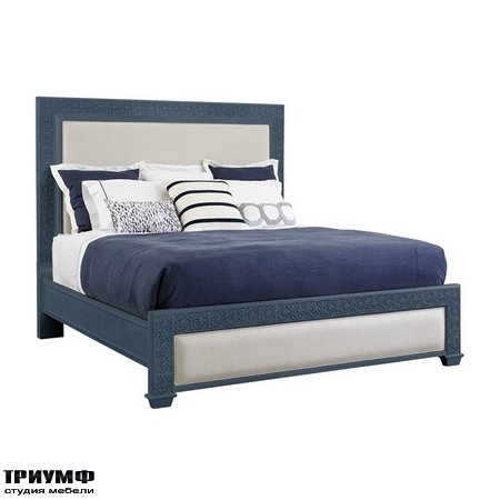 Американская мебель Stanley - Oasis Catalina Panel Bed Queen Size in Cotswold Blue