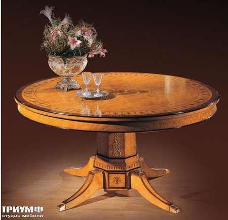 Итальянская мебель Ezio Bellotti - Стол круглый в дереве