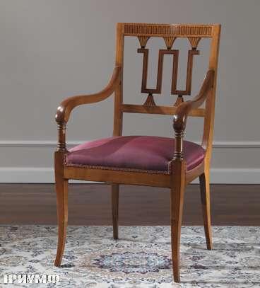 Итальянская мебель Colombo Mobili - Полукресло в стиле Бидермайр арт. 138.Р кол. Rossini