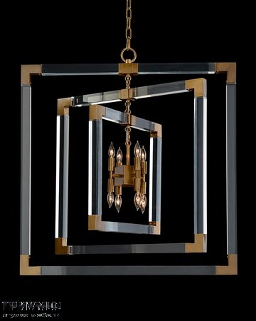 Американская мебель John Richard - Acrylic and Brass Frame Eight Light Chandelier