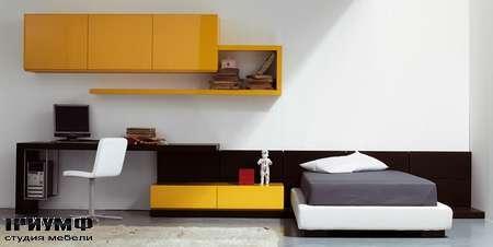 Итальянская мебель Pianca - Кровать Mia Vintage Tatami с рабочим столом