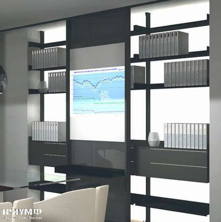 Итальянская мебель Albed - Стеллаж Vista с профилем