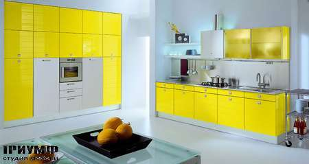 Итальянские кухни Tomassi cucine - modula. giallo zinco