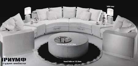 Итальянская мебель Formitalia - Диван Sitting A`round закругленный comp.4