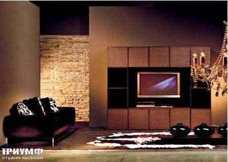 Итальянская мебель Rattan Wood - Стенка Bloom