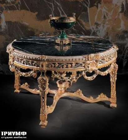 Итальянская мебель Ezio Bellotti - Стол с мраморной столешницей