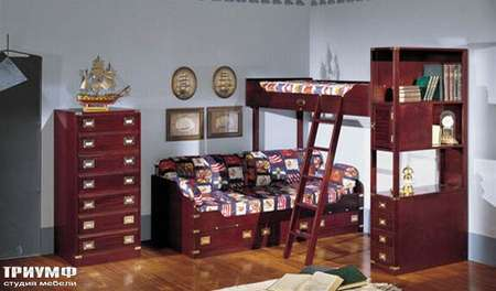 Итальянская мебель Caroti - Морская тема для детской la vecchia marina
