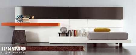Итальянская мебель Pianca - Кровать односпальная со стенкой People Tatami