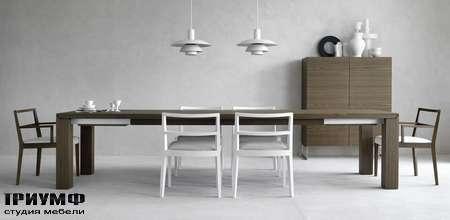 Итальянская мебель Olivieri - Стол прямоугольный раздвижной в дереве Ambrogio