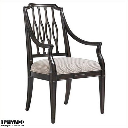 Американская мебель Stanley - Charleston Regency Cooper Dining Arm Chair in Classic Mahogany