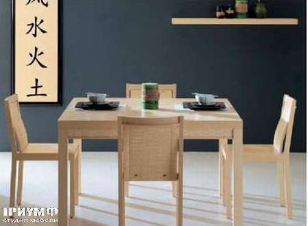 Итальянская мебель Rattan Wood - Стол Lux, стул Millennium
