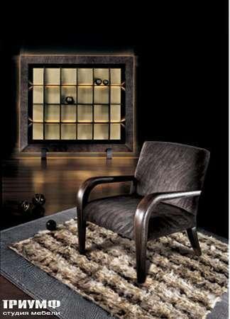 Итальянская мебель Smania - Стенка Reverse в кожаной окантовке